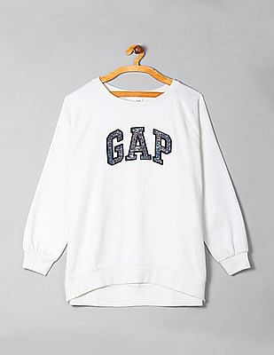 GAP Applique Logo Pullover Sweatshirt