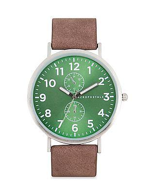 Aeropostale PU Strap Chronograph Watch