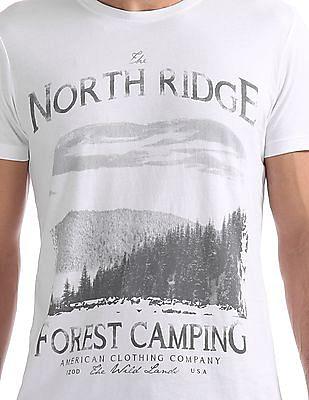 Izod Regular Fit Printed T-Shirt
