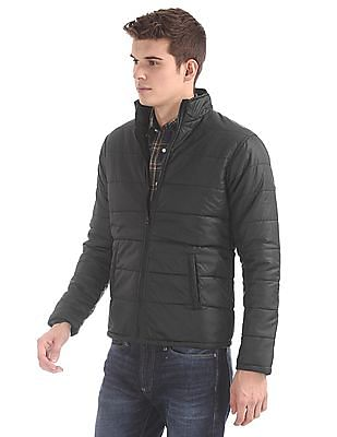 Ruggers Stand Collar Quilted Jacket