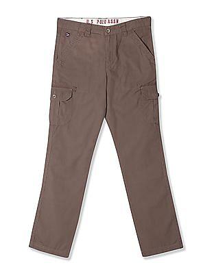 U.S. Polo Assn. Kids Boys Slim Fit Cargo Trousers