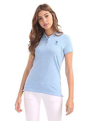 U.S. Polo Assn. Women Regular Fit Solid Polo Shirt