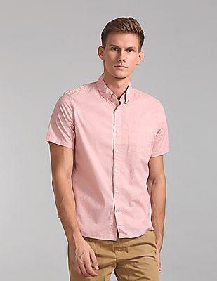 GAP Lived-In Stretch Poplin Short Sleeve Shirt