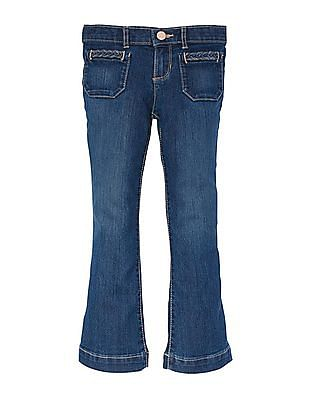 The Children's Place Girls Blue Flare Jeans