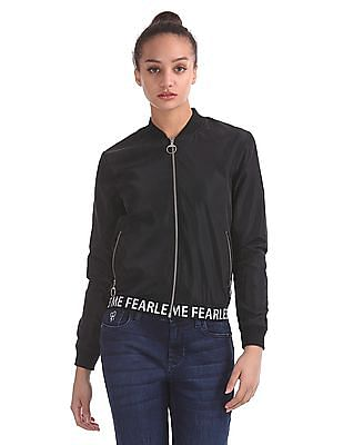 Flying Machine Women Long Sleeve Bomber Jacket