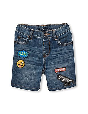The Children's Place Toddler Boy Patch Denim Shorts