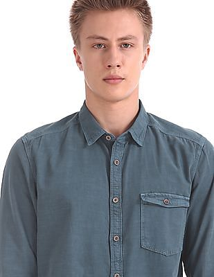 Cherokee Long Sleeve Slub Shirt