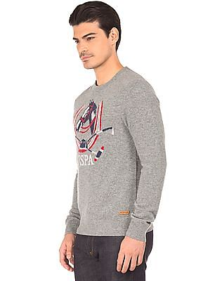 U.S. Polo Assn. Denim Co. Patterned Knit Long Sleeve Sweater
