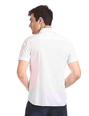 Flying Machine Short Sleeve Solid Shirt