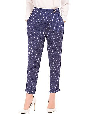 Cherokee Overlapped Front Printed Pants