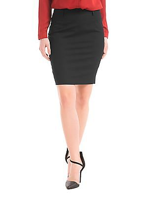 Arrow Woman Regular Fit Pencil Skirt