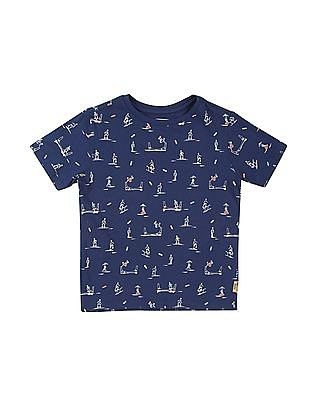 FM Boys Boys Graphic Print Slim Fit T-Shirt