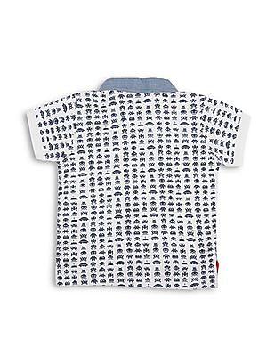 Cherokee Boys regular fit Galaga print polo shirt