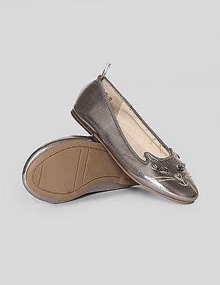 GAP Girls Glitter Cat Ballet Flats