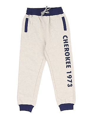 Cherokee Boys Drawstring Waist Heathered Joggers