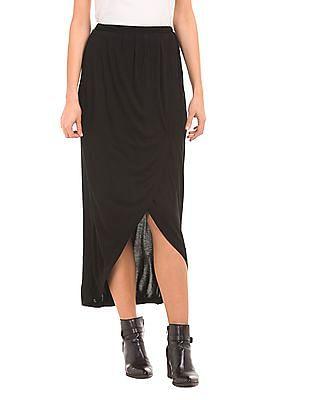 SUGR Pleated Wrap Midi Skirt