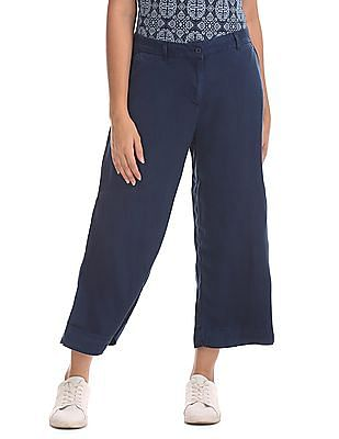 U.S. Polo Assn. Women Straight Fit Flat Front Culottes