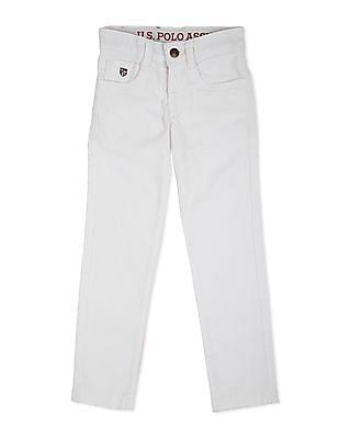 U.S. Polo Assn. Kids Boys Mid Rise Slim Fit Jeans