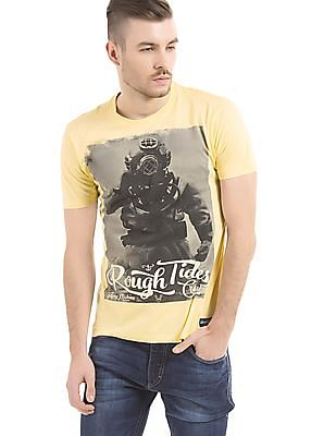 Flying Machine Regular Fit Printed T-Shirt