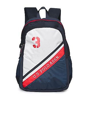 U.S. Polo Assn. Printed Padded Laptop Backpack