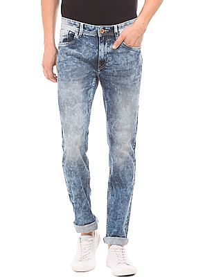 Flying Machine Acid Wash Slim Tapered Jeans