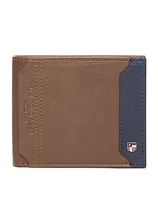 U.S. Polo Assn. Mock Flap Bi-Fold Leather Wallet