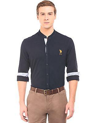 U.S. Polo Assn. Mandarin Collar Pique Shirt