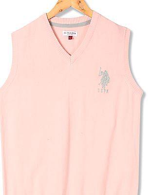 U.S. Polo Assn. Kids Boys Standard Fit Sleeveless Sweater