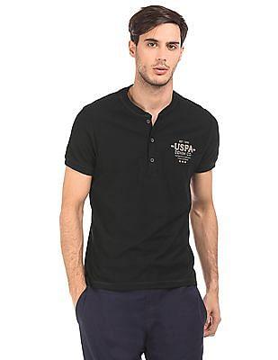 U.S. Polo Assn. Denim Co. Printed Back Henley T-Shirt