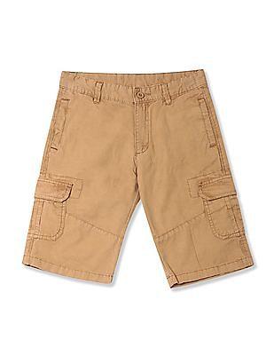 FM Boys Boys Solid Cargo Shorts
