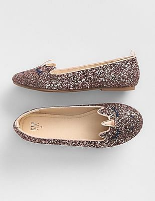 GAP Girls Glitter Unicorn Ballet Flats