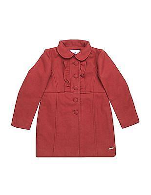 U.S. Polo Assn. Kids Girls Textured Wool Coat