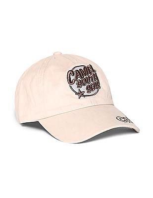 Colt Beige Embroidered Cotton Cap