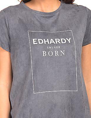 EdHardy Women Suedette Longline Top