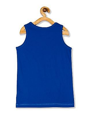 The Children's Place Boys Blue PLACE Sport Sleeveless Ringer Graphic Tank Top
