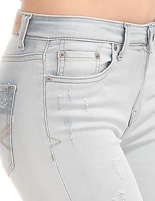 Aeropostale Mid Rise Ankle Length Jeans