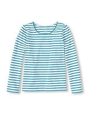 The Children's Place Girls Long Sleeve Striped T-Shirt