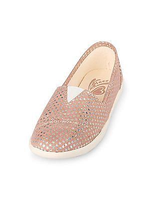 The Children's Place Girls Iridescent Star Print Coastal Shoe