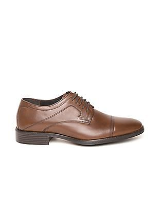 Johnston & Murphy Cap Toe Leather Derby Shoes