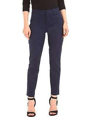 GAP Women Blue Bi-Stretch Skinny Ankle Pants