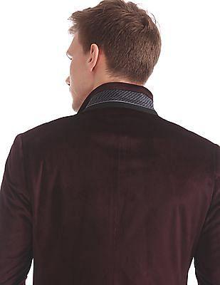 USPA Tailored Slim Fit Velveteen Blazer