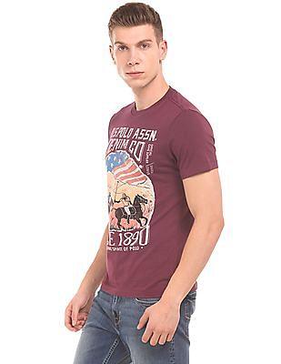 U.S. Polo Assn. Denim Co. Graphic Print Crew Neck T-Shirt