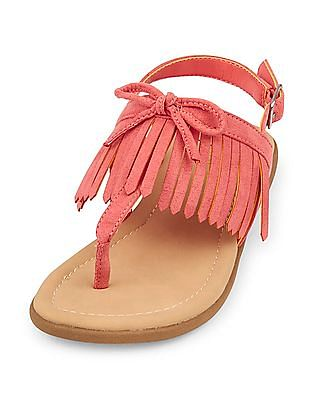 The Children's Place Girls Fringe Zahara Sandal
