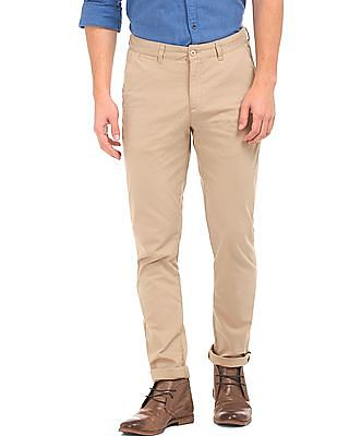 Ruggers Textured Slim Fit Trousers