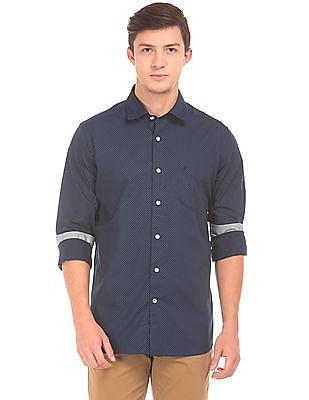 Nautica Polka Print Classic Fit Shirt