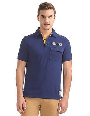 Nautica Short Sleeve Applique Polo