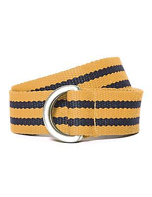 U.S. Polo Assn. Kids Boys Striped  D Loop Belt