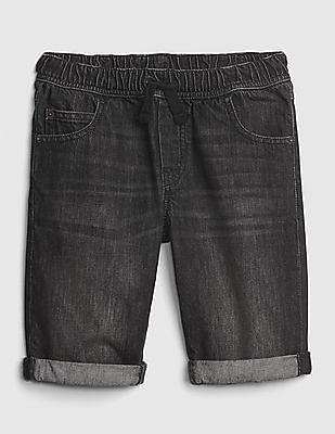 GAP Boys Pull-On Denim Roll Shorts