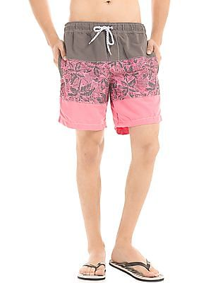 Aeropostale Printed Panel Board Shorts