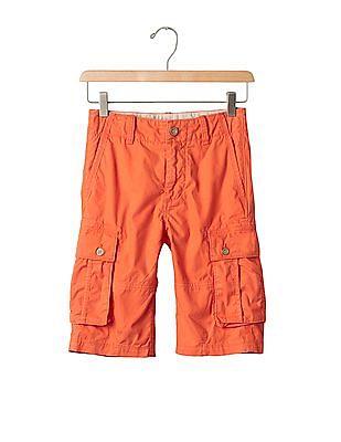 GAP Boys Orange Solid Ranger Shorts